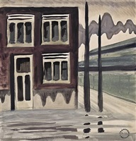 corner house by charles ephraim burchfield