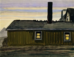 house in november evening by charles ephraim burchfield