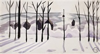 trees in the snow by charles ephraim burchfield