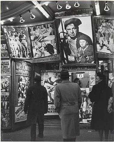 movie theatre on the west 42nd street by andreas feininger