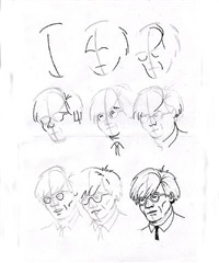 how to draw andy warhol by robert hawkins
