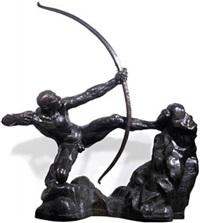 héraklès archer, grande étude by émile antoine bourdelle