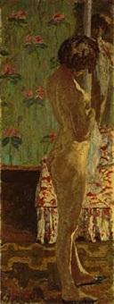 femme devant un miroir by pierre bonnard