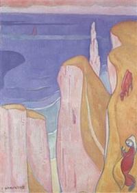 les falaises d'yport by émile bernard