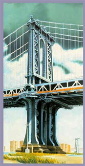manhattan bridge by richard haas