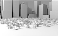 square for disapeard people, shanghai, a3 by alicia framis