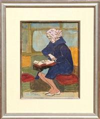 reading lady - ii by joseph solman