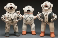 cochiti figures (3 works) by martha arquero