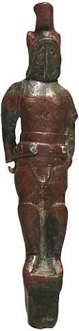 extremely rare roman folding pocket knife of a gladiator