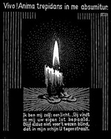candle flame by m. c. escher