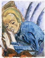 resting woman (siddi heckel) by erich heckel