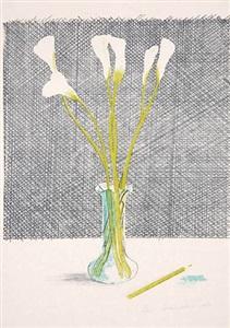 lillies (still life) by david hockney