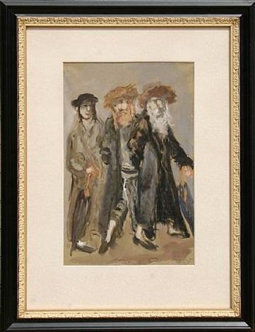three men by mané-katz