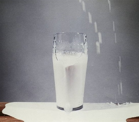 to pour milk into a glass by david lamelas