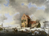on the ice-holland by reginald ernest arnold