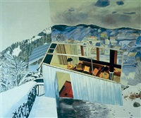 gorbachev's winter retreat by dexter dalwood
