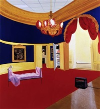 the queen's bedroom by dexter dalwood