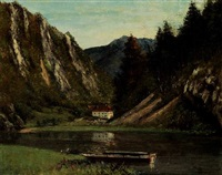 le doubs à la maison monsieur by gustave courbet