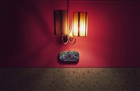 hotel bregaglia, red wall, 2000/2009 by leta peer