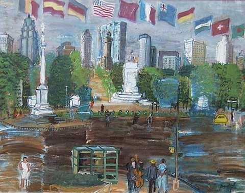 columbus circle new york by carlos nadal