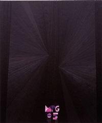 untitled (black butterfly dioxide purple mpg 05) by mark grotjahn