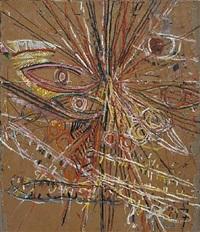 untitled (face) by mark grotjahn