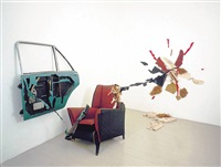 car door, armchair and incident by bill woodrow