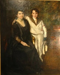 portrait of mrs. chase and son by william merritt chase