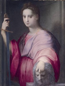 judith with the head of holofernes by domenico puligo