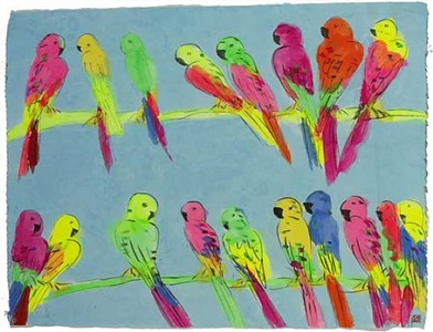 many parrots by walasse ting