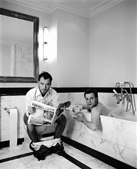 jude and ewan in the bathroom by lorenzo agius