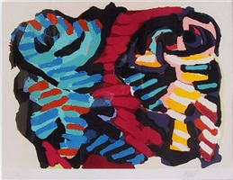 happy encounter by karel appel