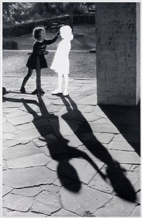 two girls with shadow by hans peter feldmann