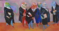 judges, six of nine by william gropper