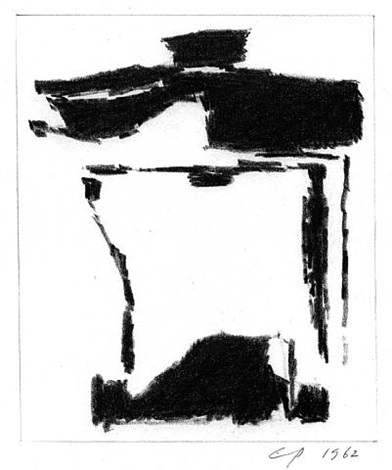 black drawing 1 by charles pollock