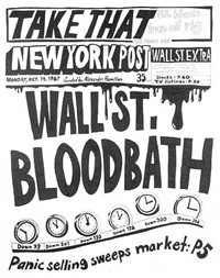 stock market: '87 crash wall st. bloodbath (19th october 1987) by aleksandra mir