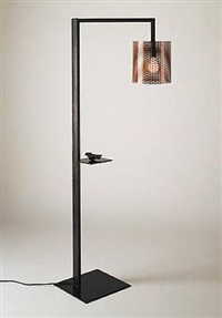 untitled (floor lamp with palm lake) by bryan hunt