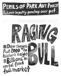 stock market: up and down raging bull (14th february 1997) by aleksandra mir