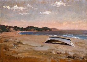 the beach, long island by irving ramsey wiles