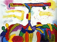 integrated painting one by carroll dunham