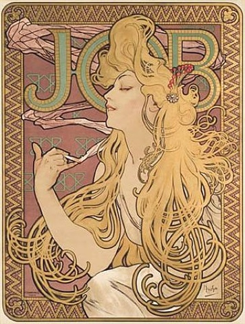 job (mii 635) by alphonse mucha