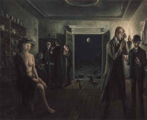 les phases de la lune ii (the phases of the moon ii) by paul delvaux