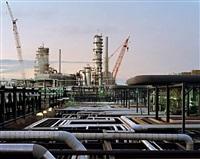 oil refineries #15, st. john, new brunswick, canada, 1999 by edward burtynsky