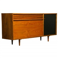 a walnut cabinet by milo baughman for glenn of california by milo baughman