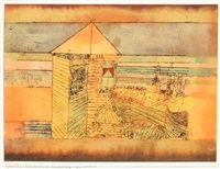 wunderbare landung (acostage miraculeux) by paul klee