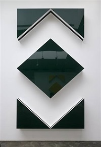 photo-souvenir : cut-out: situated work in five parts, green by daniel buren
