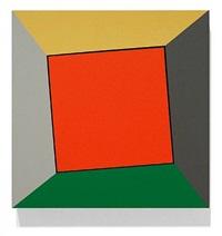 orange red square twist by ronald davis