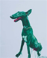 green dog by zhou chunya
