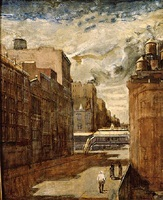 15th street and 6th avenu by isabel bishop