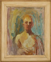 portrait (self portrait with head on verso) by earl cavis kerkam